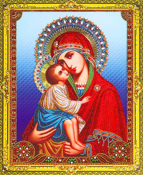 Алмазная мозаика 5D 40x50 Донская икона Божией Матери