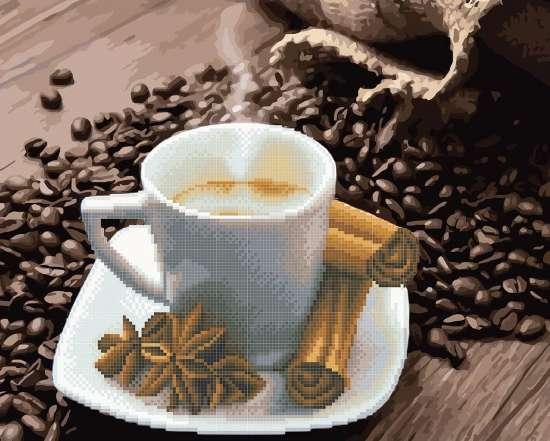 Алмазка-раскраска Кофе с корицей
